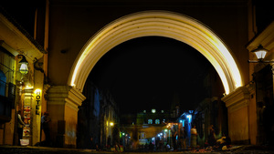 Santa Catalina Arch At Night, Antigua, Guatemala